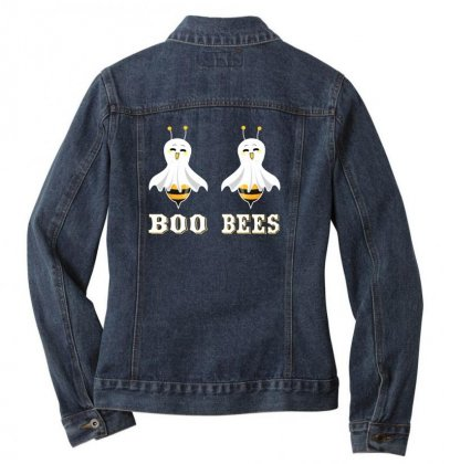 Boo Bees Merch Ladies Denim Jacket Designed By Oktaviany