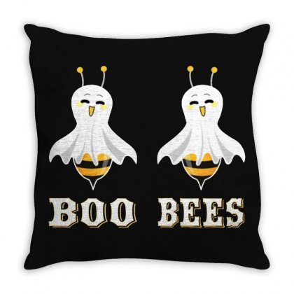 Boo Bees Merch Throw Pillow Designed By Oktaviany