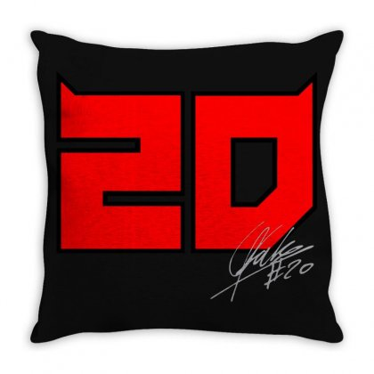 Fabio Quartararo 20 Throw Pillow Designed By Oktaviany