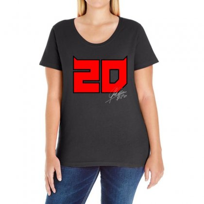 Fabio Quartararo 20 Ladies Curvy T-shirt Designed By Oktaviany
