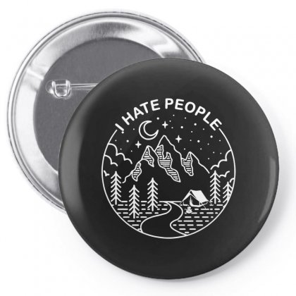 Hate People Merch Pin-back Button Designed By Oktaviany