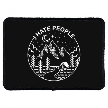 Hate People Merch Rectangle Patch Designed By Oktaviany