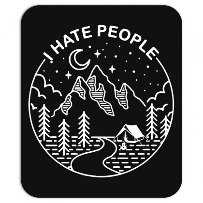 Hate People Merch Mousepad Designed By Oktaviany