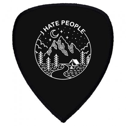 Hate People Merch Shield S Patch Designed By Oktaviany