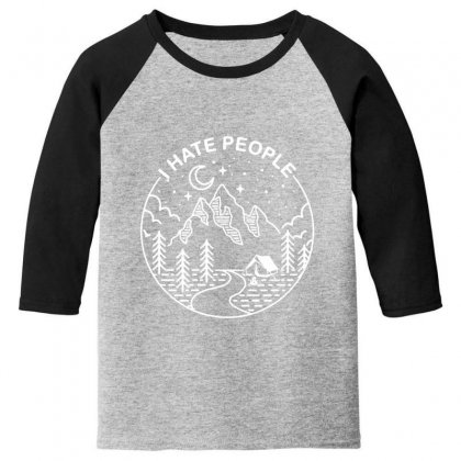 Hate People Merch Youth 3/4 Sleeve Designed By Oktaviany