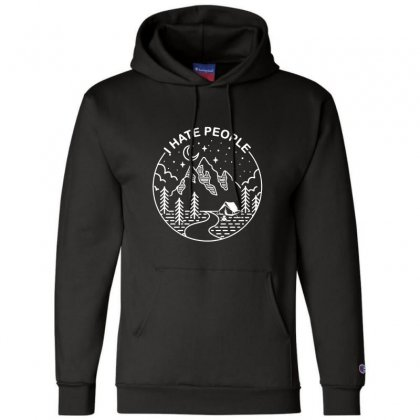 Hate People Merch Champion Hoodie Designed By Oktaviany