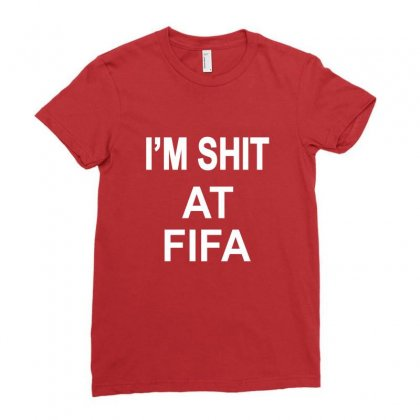 Im Shitfifa Merch Ladies Fitted T-shirt Designed By Oktaviany