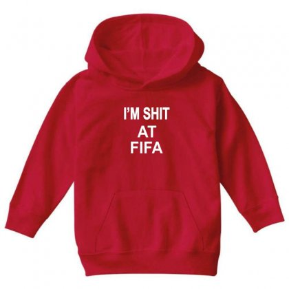 Im Shitfifa Merch Youth Hoodie Designed By Oktaviany