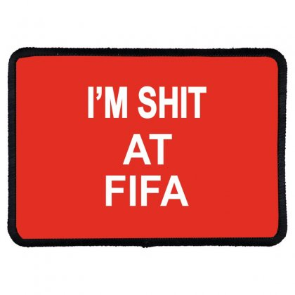 Im Shitfifa Merch Rectangle Patch Designed By Oktaviany