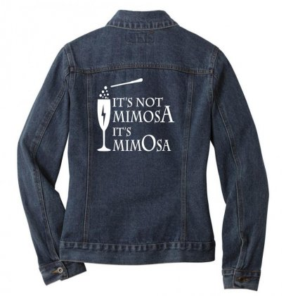 It's Mimosa Not Mimosa Ladies Denim Jacket Designed By Oktaviany