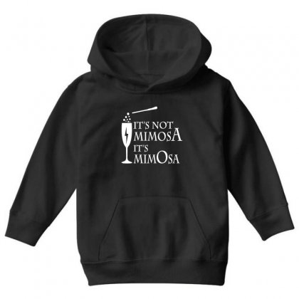 It's Mimosa Not Mimosa Youth Hoodie Designed By Oktaviany
