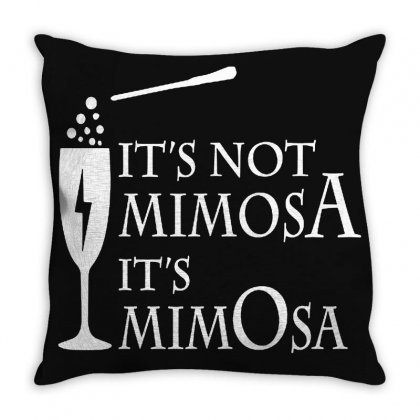 It's Mimosa Not Mimosa Throw Pillow Designed By Oktaviany
