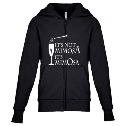 It's Mimosa Not Mimosa Youth Zipper Hoodie Designed By Oktaviany