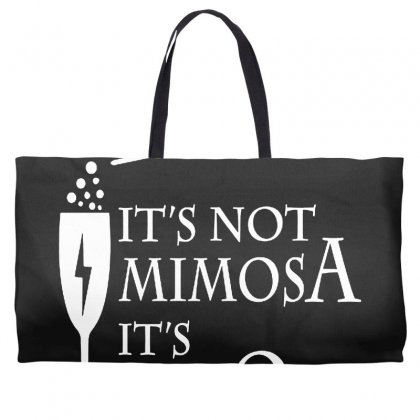 It's Mimosa Not Mimosa Weekender Totes Designed By Oktaviany
