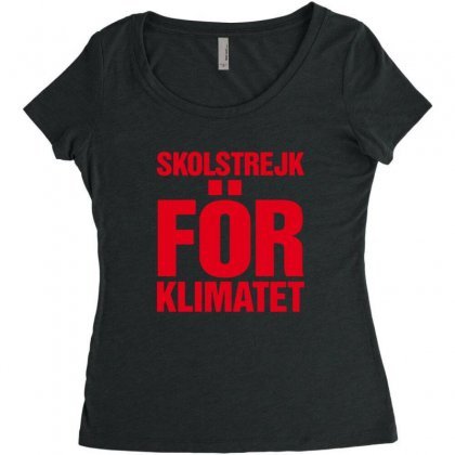 Skolstrejk For Klimatet Women's Triblend Scoop T-shirt Designed By Oktaviany