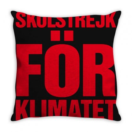 Skolstrejk For Klimatet Throw Pillow Designed By Oktaviany