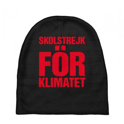 Skolstrejk For Klimatet Baby Beanies Designed By Oktaviany