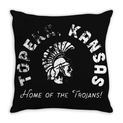 Topeka High School Merch Throw Pillow Designed By Oktaviany