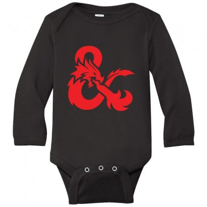 Dungeons & Dragons   Dungeons & Amp Long Sleeve Baby Bodysuit Designed By Oktaviany