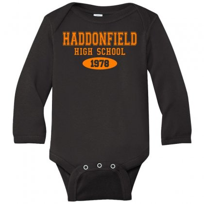 Haddonfield High Class Of 1978 Long Sleeve Baby Bodysuit Designed By Oktaviany