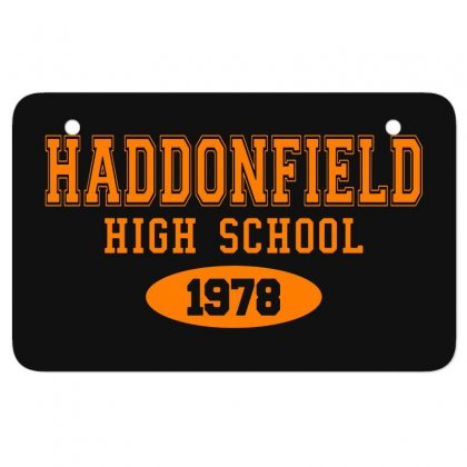 Haddonfield High Class Of 1978 Atv License Plate Designed By Oktaviany