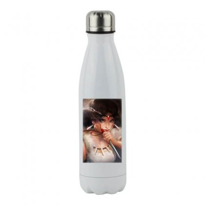 Wolf Princess Anime Stainless Steel Water Bottle Designed By Oktaviany