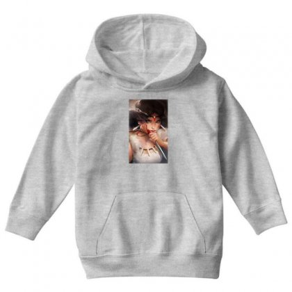 Wolf Princess Anime Youth Hoodie Designed By Oktaviany
