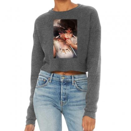 Wolf Princess Anime Cropped Sweater Designed By Oktaviany