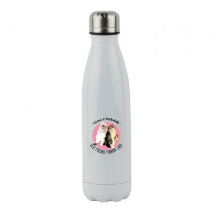 Olivia And Meredith Best Friends Stainless Steel Water Bottle Designed By Oktaviany