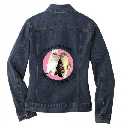 Olivia And Meredith Best Friends Ladies Denim Jacket Designed By Oktaviany