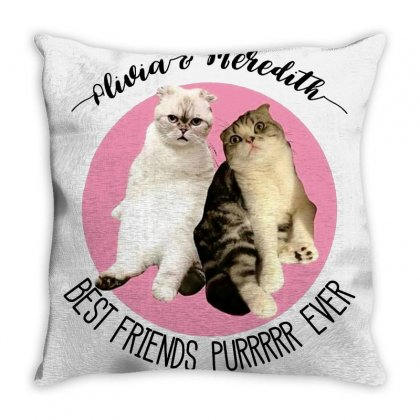 Olivia And Meredith Best Friends Throw Pillow Designed By Oktaviany