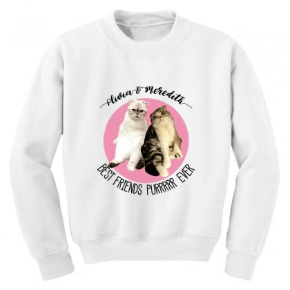 Olivia And Meredith Best Friends Youth Sweatshirt Designed By Oktaviany