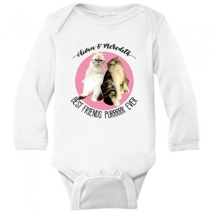 Olivia And Meredith Best Friends Long Sleeve Baby Bodysuit Designed By Oktaviany