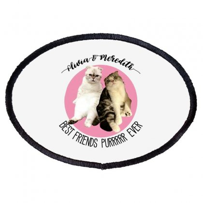 Olivia And Meredith Best Friends Oval Patch Designed By Oktaviany