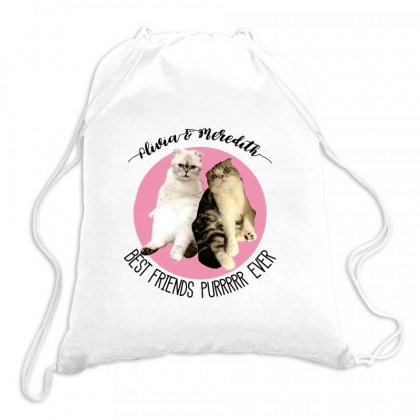 Olivia And Meredith Best Friends Drawstring Bags Designed By Oktaviany