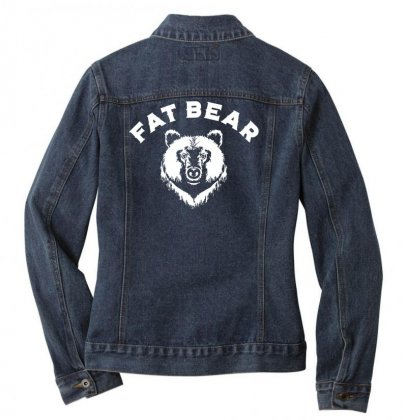 Protect Fat Bears Ladies Denim Jacket Designed By Oktaviany