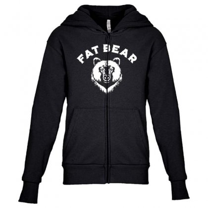Protect Fat Bears Youth Zipper Hoodie Designed By Oktaviany