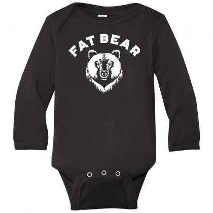 Protect Fat Bears Long Sleeve Baby Bodysuit Designed By Oktaviany