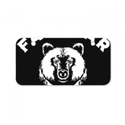 Protect Fat Bears Bicycle License Plate Designed By Oktaviany