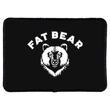 Protect Fat Bears Rectangle Patch Designed By Oktaviany
