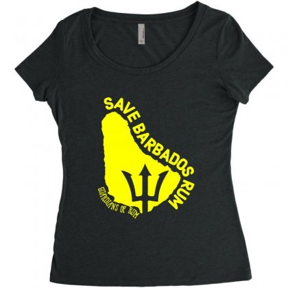 Save The Barbados Women's Triblend Scoop T-shirt Designed By Oktaviany