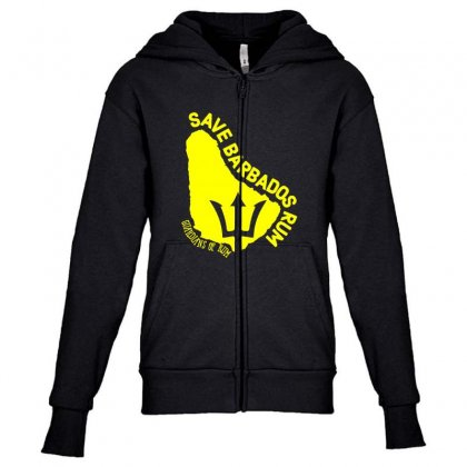 Save The Barbados Youth Zipper Hoodie Designed By Oktaviany