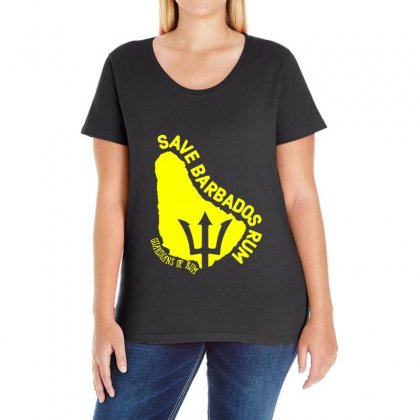 Save The Barbados Ladies Curvy T-shirt Designed By Oktaviany