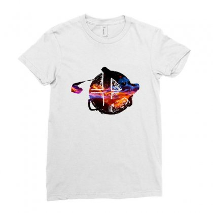 Smash Ball Bros Ladies Fitted T-shirt Designed By Oktaviany