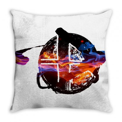 Smash Ball Bros Throw Pillow Designed By Oktaviany