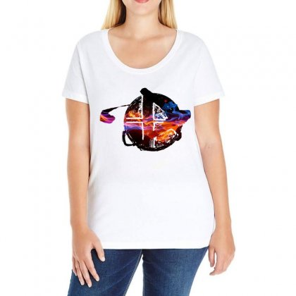 Smash Ball Bros Ladies Curvy T-shirt Designed By Oktaviany