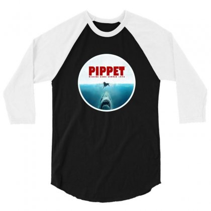 Jaws   Pippet 3/4 Sleeve Shirt Designed By Sr88