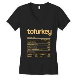 tofurkey nutrition facts funny thanksgiving christmas Women's V-Neck T-Shirt | Artistshot