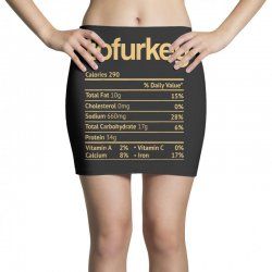 tofurkey nutrition facts funny thanksgiving christmas Mini Skirts | Artistshot