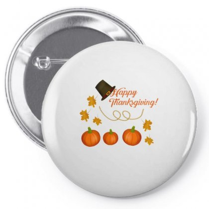 Happy Thanksgiving Pin-back Button Designed By Zein
